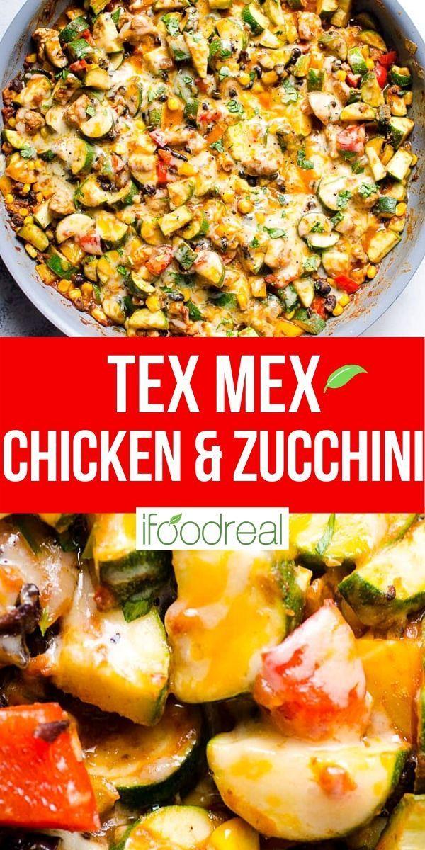 Tex Mex Chicken And Zucchini Health Dinner Recipes Recipes Chicken Dinner Recipes