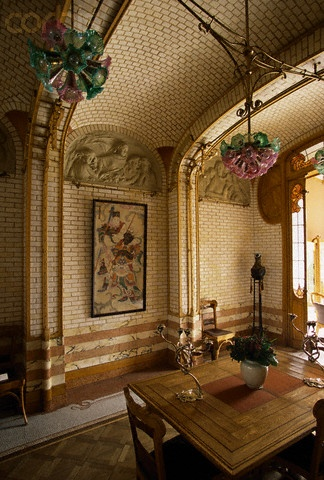 Belgium. Maison  Horta, Brussels, 1897 // Victor Horta's home, now a museum
