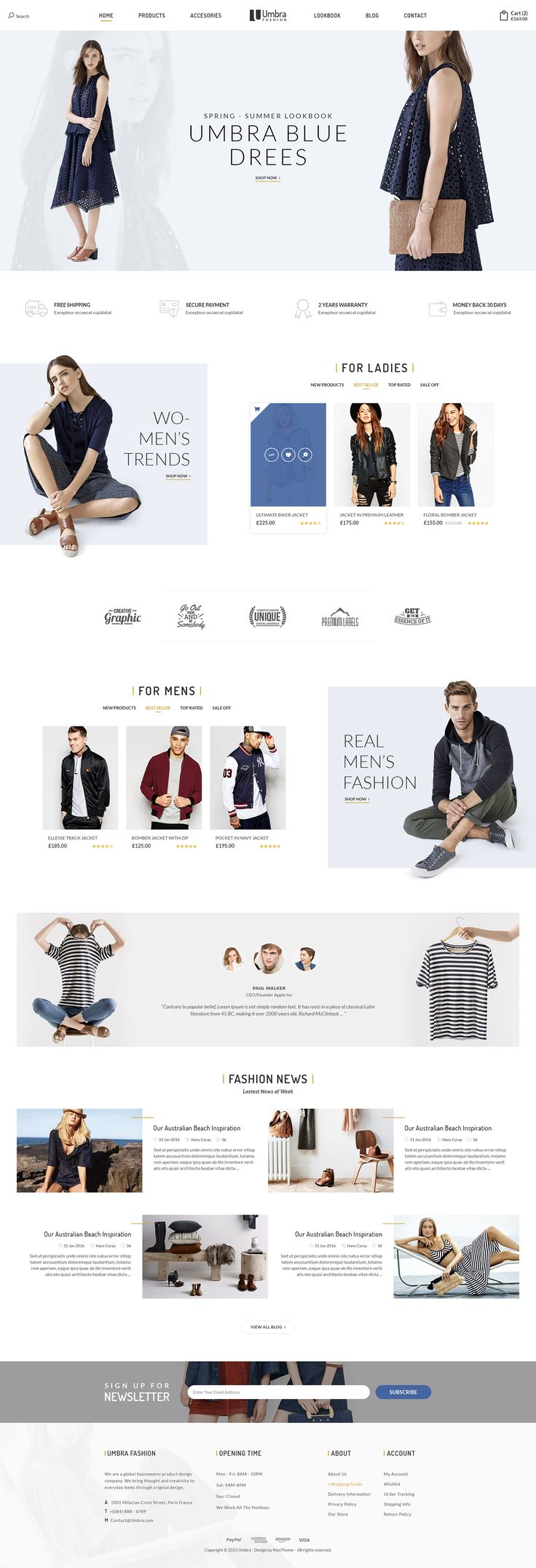 Umbra is the premium PSD template for multi concept eCommerce shop. It can be suitable for any kind of ecommerce shops thanks to its multi-functional layout. Umbra brings in the clean interface with unique and modern style