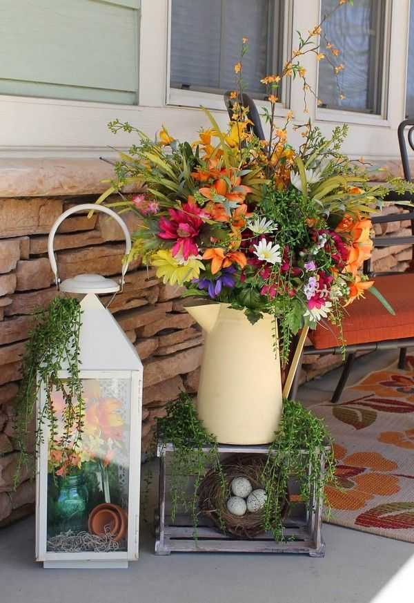 Rustic Spring Porch Decor Ideas To Make Your Home Bloom Spring