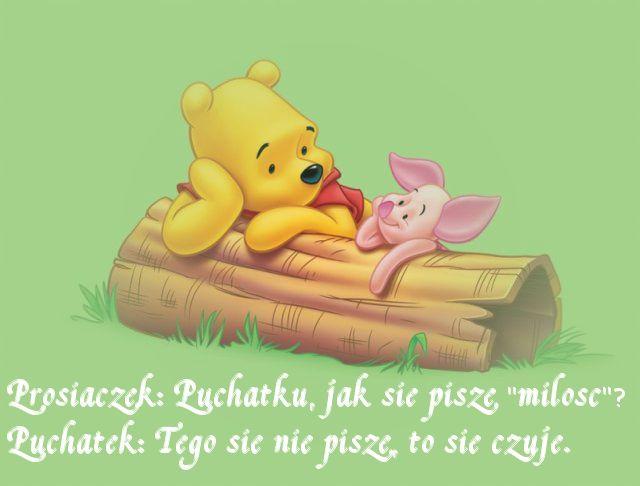 #Miłość się nie pisze, to się czuje :)  #kubuspuchatek #winniethepooh