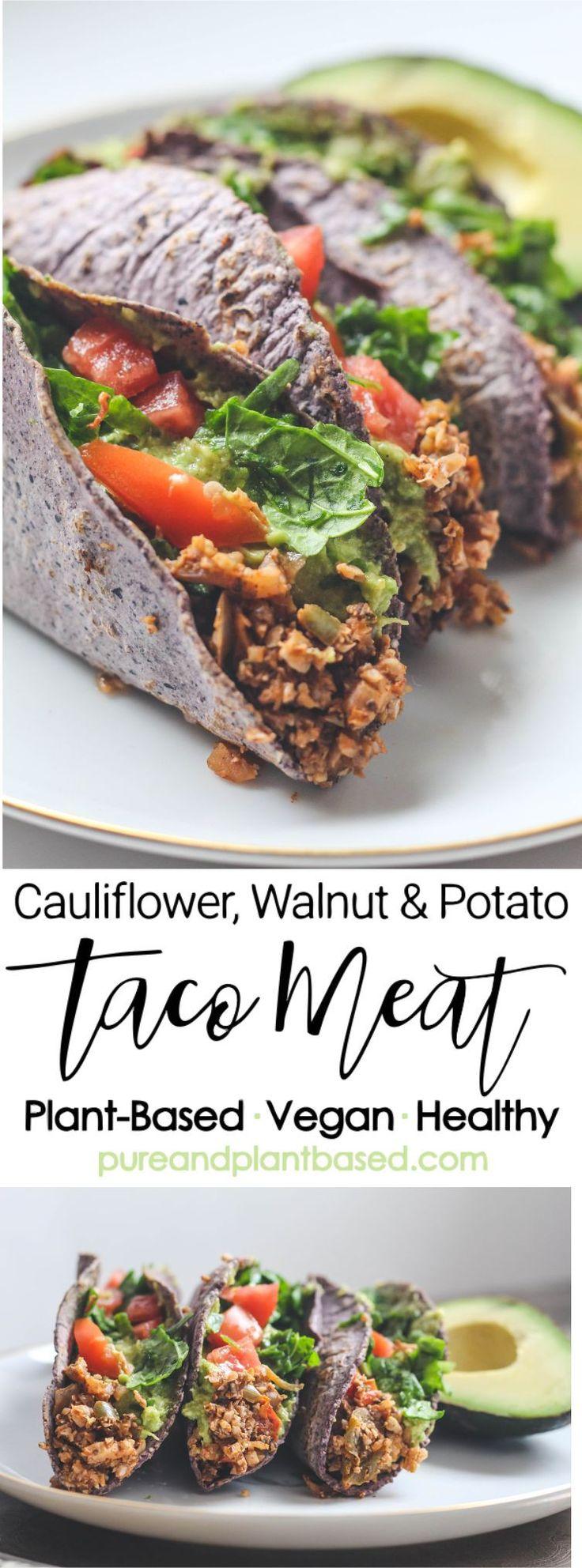 Plant-Based Taco Meat with Cauliflower, Walnuts, and Potato