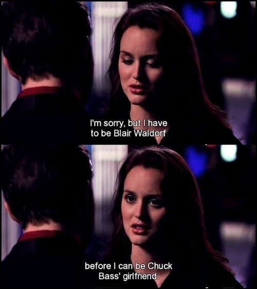 CHAIR. blair waldorf + chuck bass = ♥