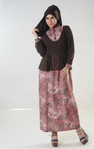 warna lux batik ethnic collection forward gamis batik dengan kombinasi ...