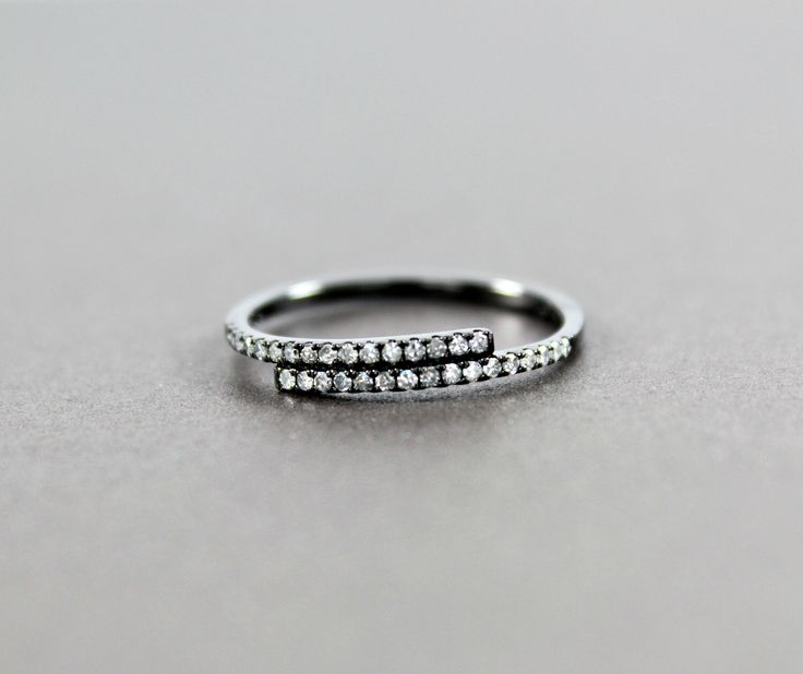Women's Black Diamond Band, 18K Gold Black Rhodium, Fashion Band, Wedding Band, Promise Band, Anniversary Band, For Her, For Women by Nicotalya on Etsy https://www.etsy.com/listing/495887998/womens-black-diamond-band-18k-gold-black