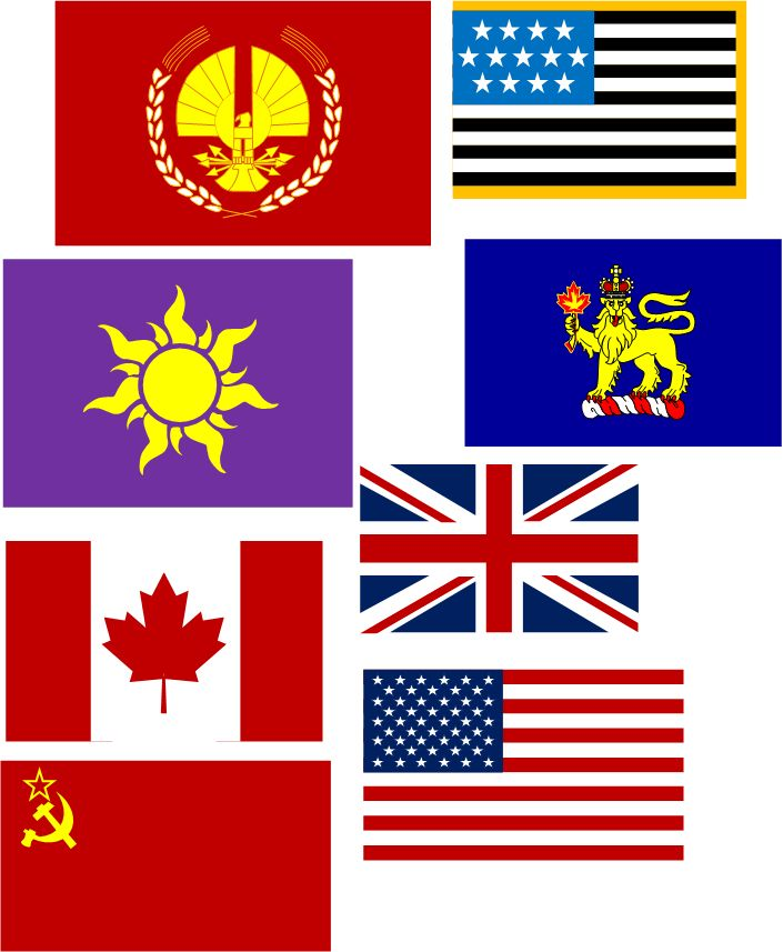 some flags