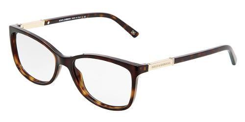 Dolce & Gabbana   Eyewear : modèle 3107 - Collection Lunettes de vue Femmes. Lunettes Carrées avec monture en plastique havane.