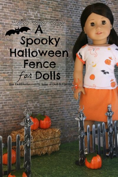 Doll Craft- A Doll Size Halloween Fence