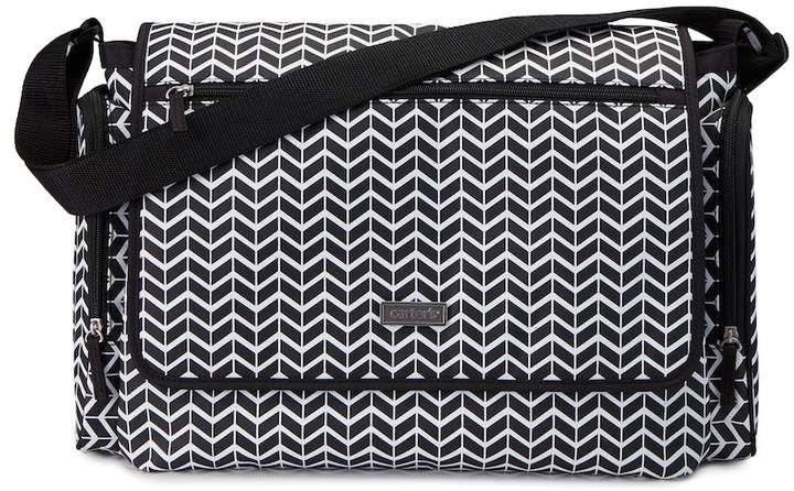 Carter's Flap Patterned Messenger Diaper Bag