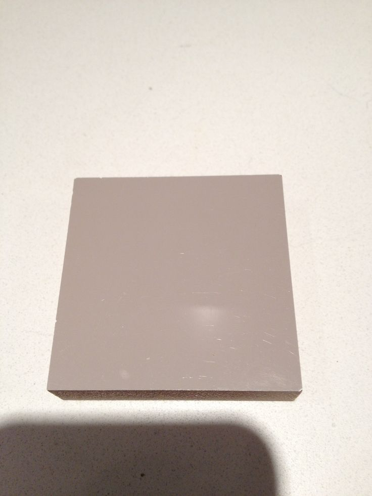 Colour sample for vanity and cabinets