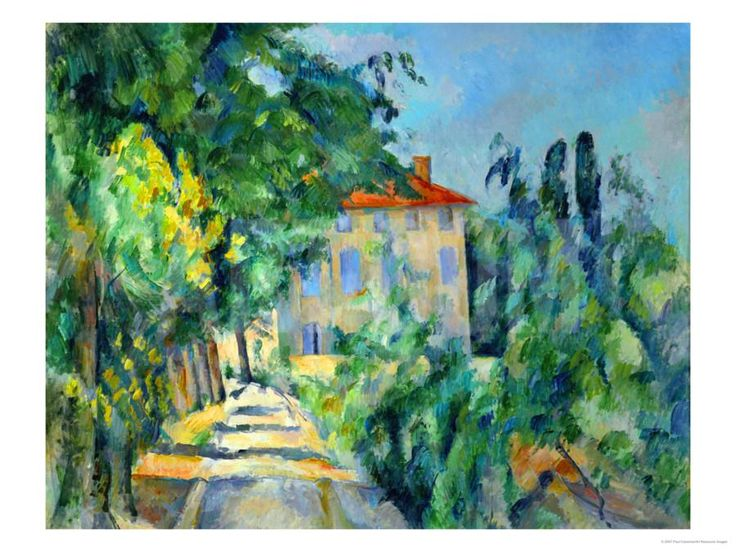 Maison Au Toit Rouge- House with a Red Roof, 1887-90 Giclee Print by Paul Cézanne at Art.com