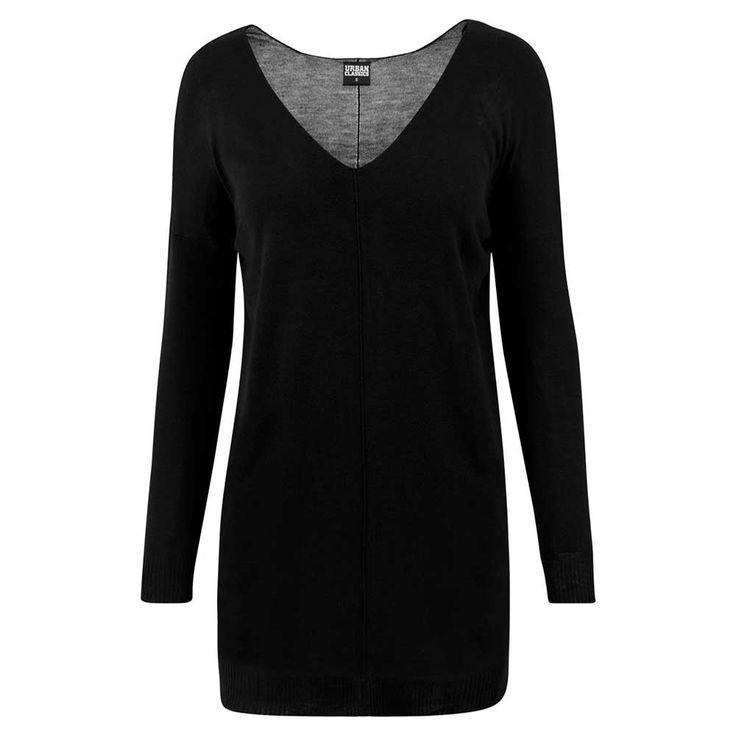 Urban Classics Gebreide oversized sweater dames trui zwart | Attitude