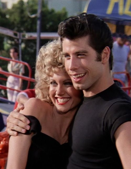 John Travolta and Olivia Newton-John in 'Grease', 1978.