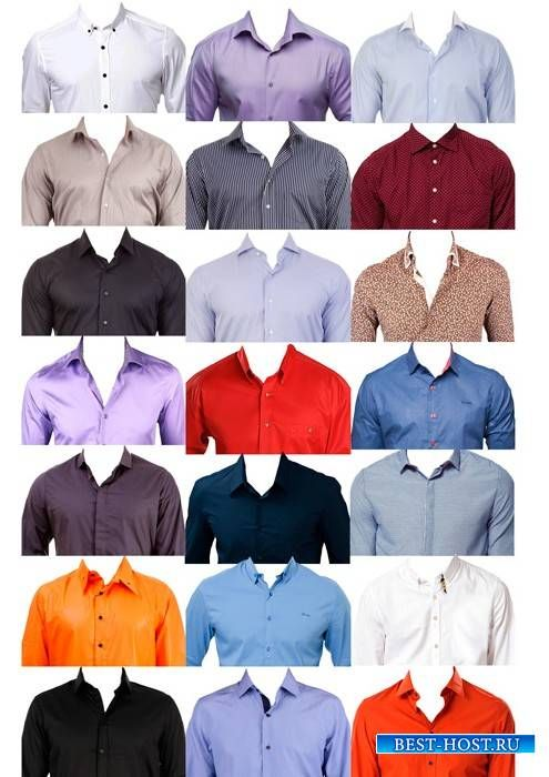 Шаблоны для фотошопа - Рубашки для фото на документы (с ...