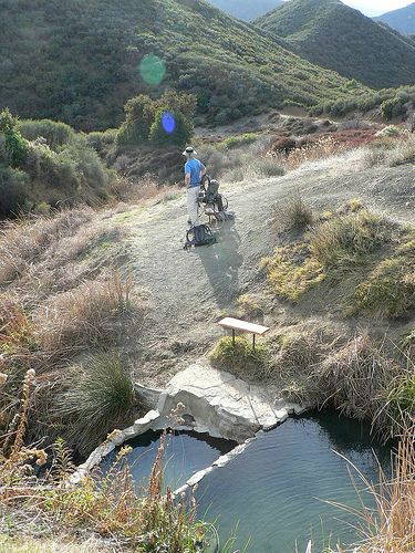 Little Caliente Hot Spring   Santa Barbara Hikes - Trails, day hiking, backpacking in Santa Barbara, Montecito, Gaviota, Carpinteria, California