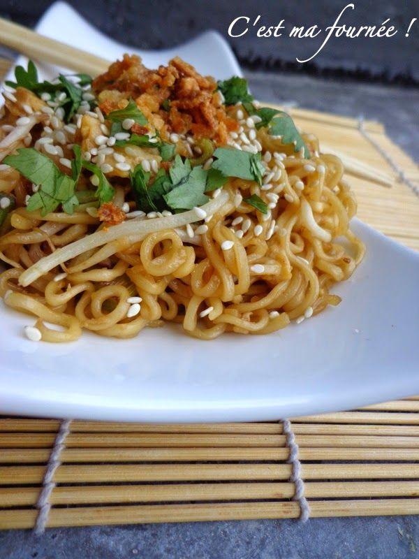 """C'est+ma+fournée+!:+Les+nouilles+sautées+façon+""""Wagamama""""+(The+yakisoba+noodles)"""