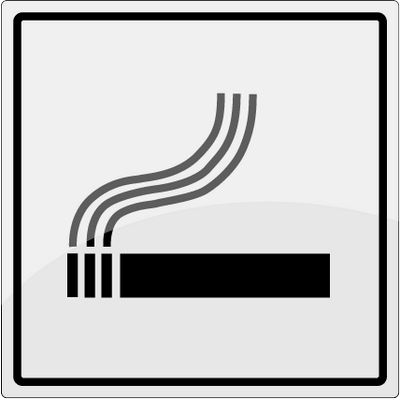 Rygning tilladt piktogram i rustfrit stål - Køb online -