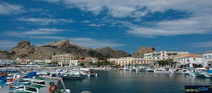 """☛Το όγδοο μεγαλύτερο νησί της Ελλάδας,η Λήμνος ή """"Ανεμόεσσα"""", βρίσκεται στο βόρειο Αιγαίο, στο Θρακικό πέλαγος, ανάμεσα στο Άγιον Όρος, τη Σαμοθράκη, την Ίμβρο και τη Λέσβο.Το κύριο λιμάνι της Λήμνου,η Μύρινα είναι και η πρωτεύουσα του νησιού και πήρε το όνομα της γυναίκας του πρώτου βασιλιά του νησιού,του Θόαντα.Ως το 1955 η Μύρινα ονομαζόταν Κάστρο,ονομασία που επικράτησε κατά την ύστερη βυζαντινή περίοδο και άτυπα ακόμα έτσι αποκαλείται από τους παλιότερους Λημνιούς."""