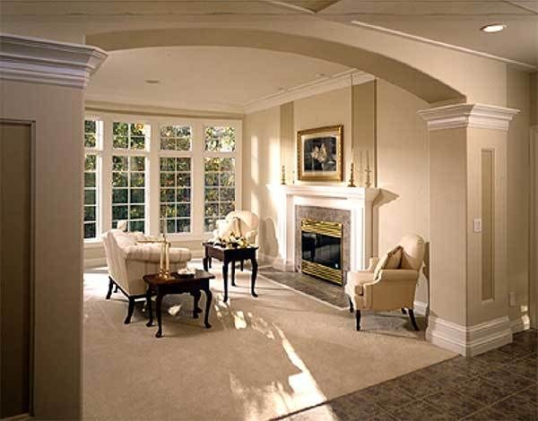 Plan 8967ah Brick And Stucco Blend In 2021 Archways In Homes Luxury Living Room Design Home Room Design Our hamptons inspired living roomcoming
