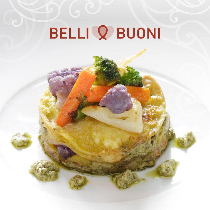 Scopri qui www.sughialthea.it/belli-buoni-lasagnette-al-pesto.php la ricetta delle Lasagnette vegetariane al Pesto Althea e guarda il tutorial dell'impiattamento, immergendoti nella magica atmosfera dell'Antica Corte Pallavicina.