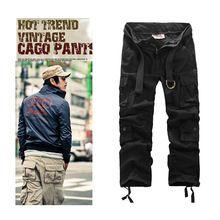 Nieuwe mode vintage mannen broek militaire stijl leger camouflage cargo broek gratis verzending(China (Mainland))
