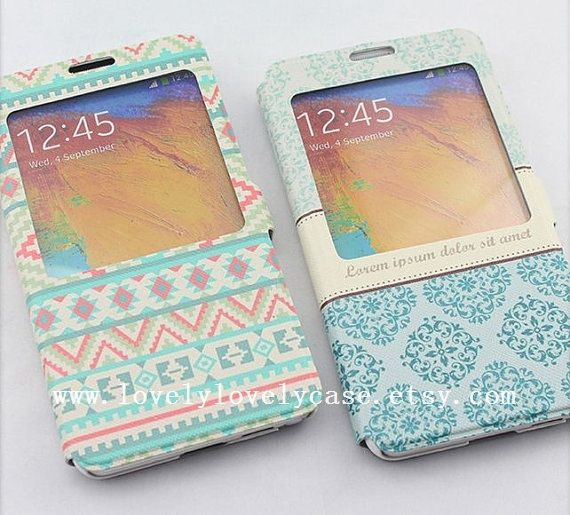 samsung note 3 flip case samsung galaxy note 3 by lovelylovelycase, $17.60