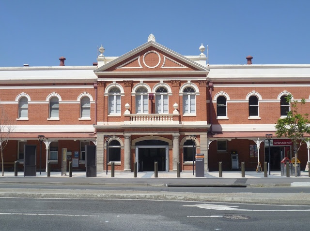 South Brisbane Train Station. Brisbane, Queensland, Australia.