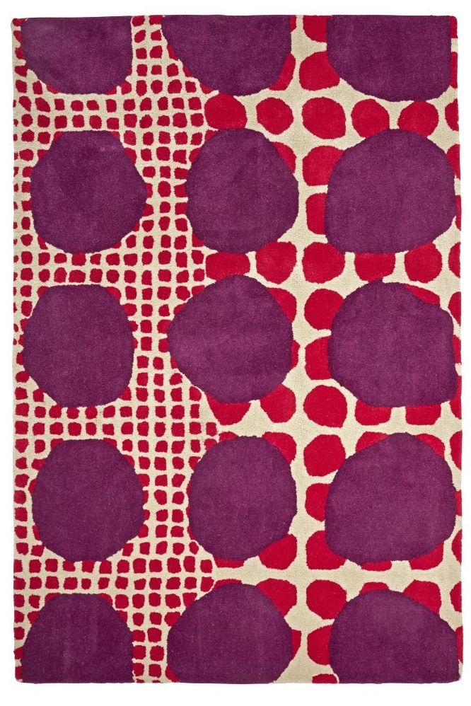 You can never have too many dots. Especially when they're on this colorful multi polka dot rug by Virginia Crofts. Featuring an armada of polka dots in varying sizes, it'll definitely fulfill your daily dot quota.