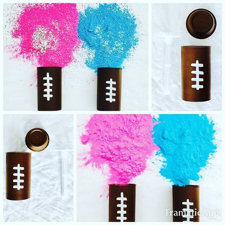 Gender reveal football push-pops by Poof There it is! #genderreveal #footballgenderreveal #genderrevealparty #genderrevealideas #etsy #poofthereitis #poofthereitisreveals #pushpops #pushpopreveal