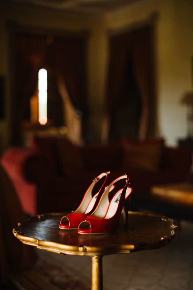 Lovely and romantic red shoes.