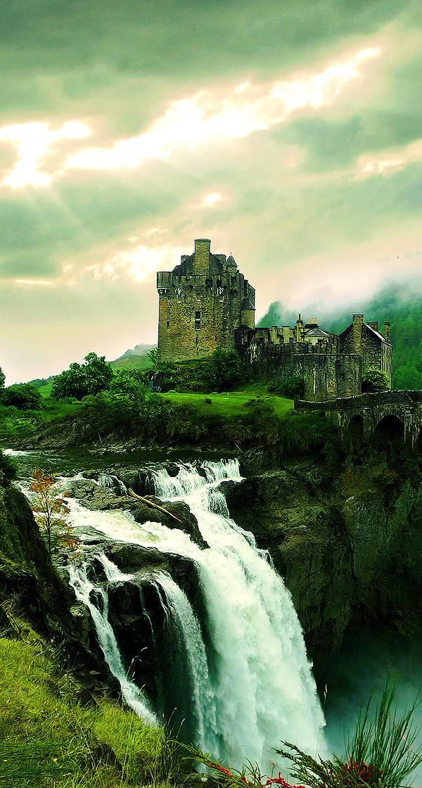 Waterfall Castle...Scotland... #Scotland
