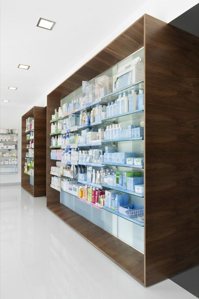 Pharmacy Design | Retail Design | Store Design | Pharmacy Shelving | Pharmacy Furniture | Campos Pharmacy / e|348 Arquitectura