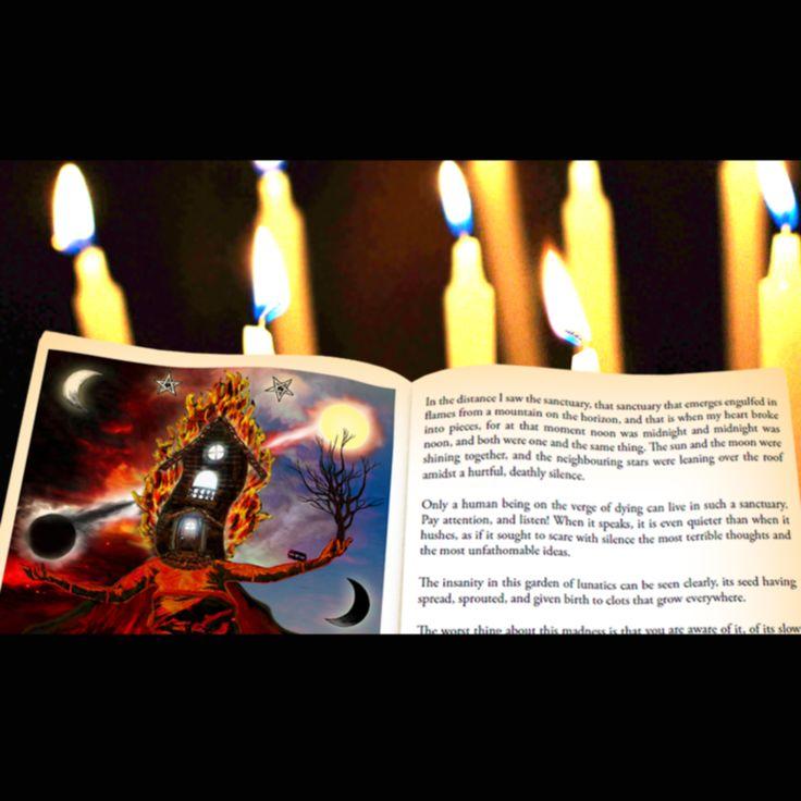 """The burning sanctuary"" facebook fan page #hernanergueta #ilustracion #cuentos"