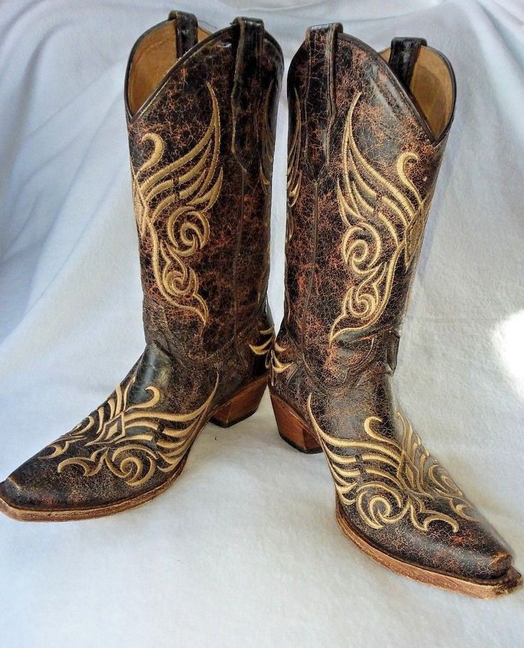 Circle G Corral L5002 Size 7M Womens Western Cowgirl Boots Distressed Bone | Clothing, Shoes & Accessories, Women's Shoes, Boots | eBay!