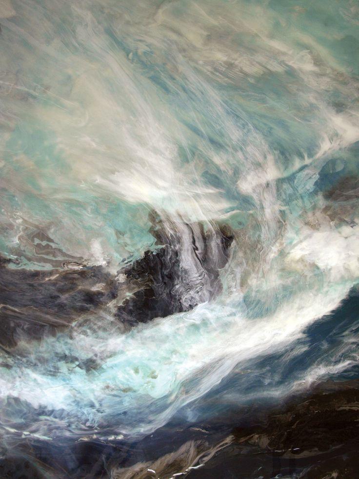 "Norah Borden - Planet Earth (Planet Earth Series) Acrylic on Panel 60"" x 78"" x 3.75"""