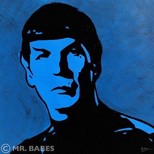 "MR.BABES ""Star Trek: Spock (Leonard Nimoy)"" Original Pop Art Painting One Of A Kind Acrylic On Canvas Signed 30"" x 30"". 30"" x 30"" Acrylic On Canvas Painting. Original, Hand Painted, & One Of A Kind. Certificate Of Authenticity Included."