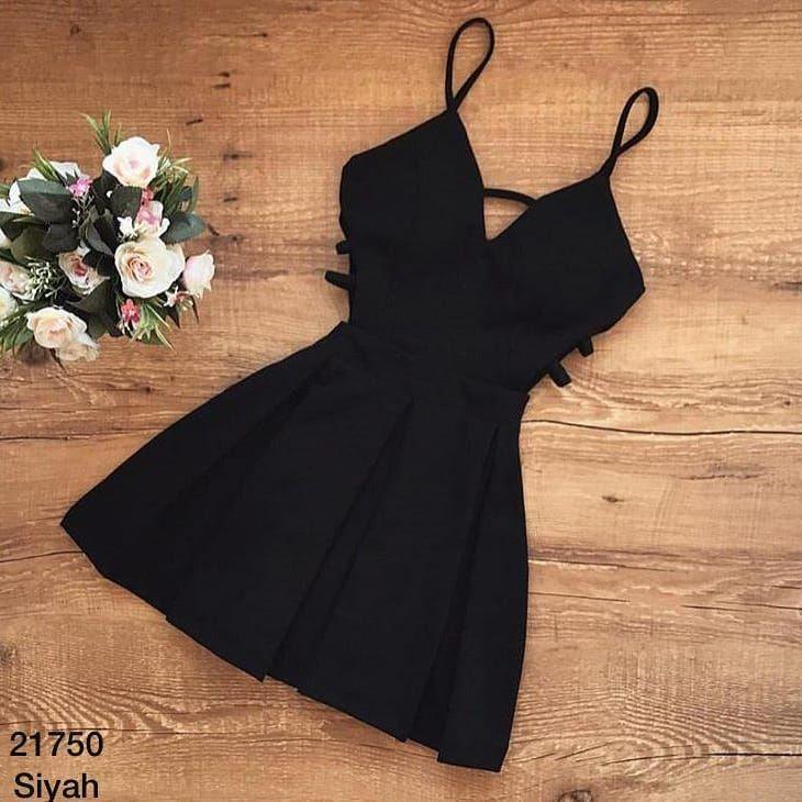 model-  21750 8990 Yanları dekolte 4 renk elbise s m l beden atlas kumaş bordo…