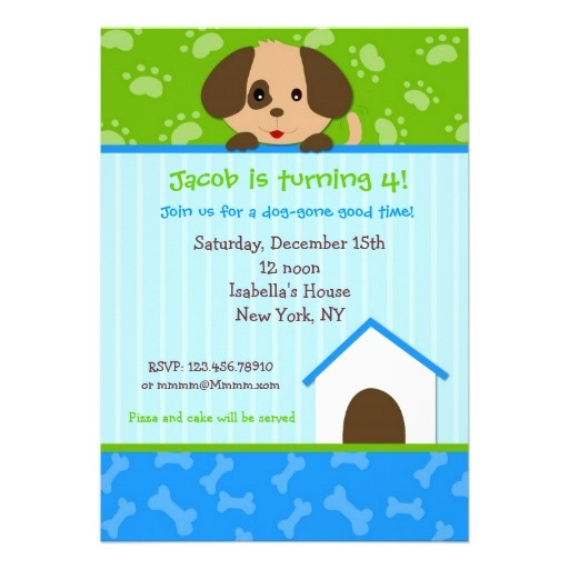 The 25 best Dog birthday parties ideas – Dog Themed Birthday Party Invitations