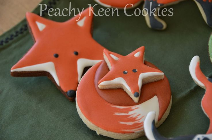Fox cookies made from star cookie cutters  :)