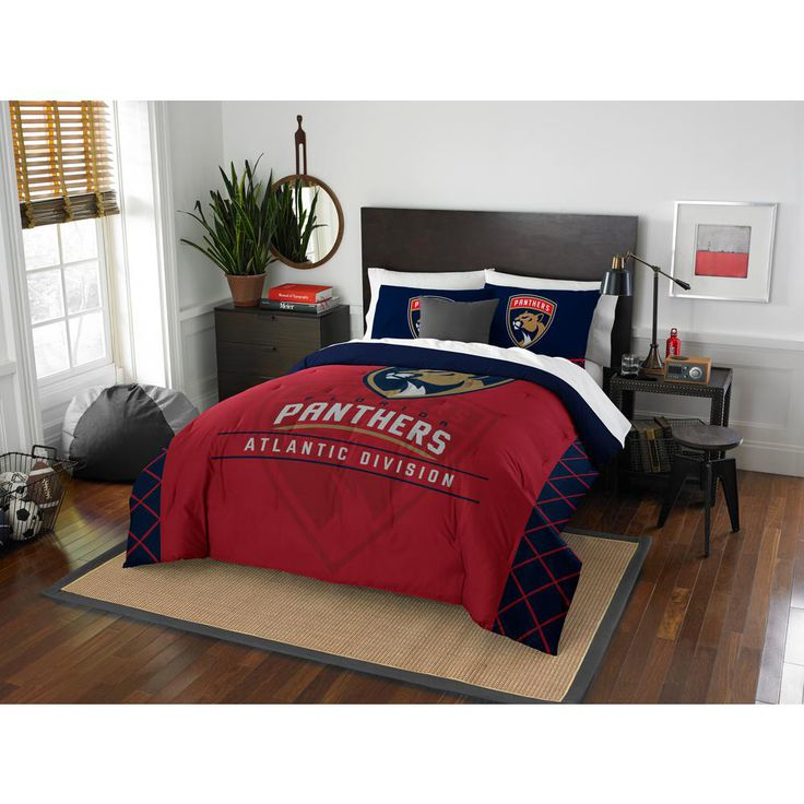 FL Panthers Draft 3-Piece Multi-Color Polyester Full/Queen Comforter Set, Multi