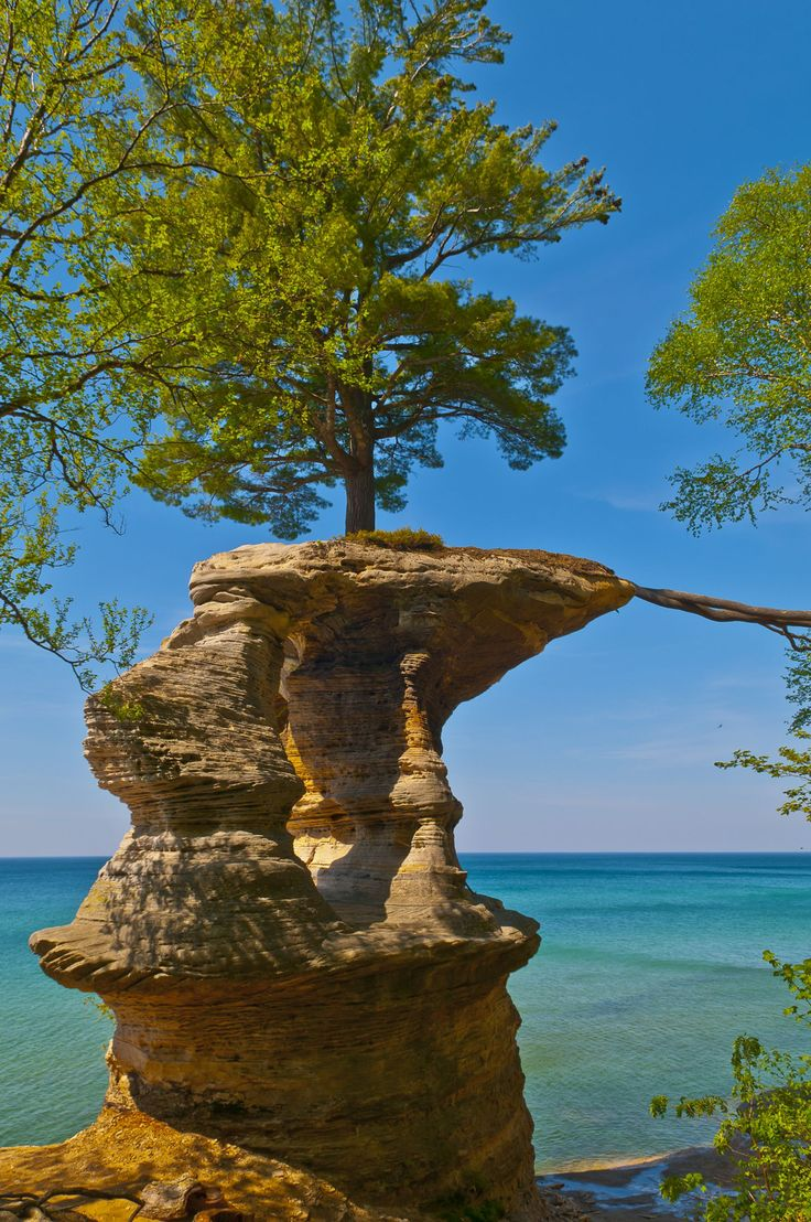 Pictured Rocks National Lakeshore in Michigan's Upper Peninsula. From pristine beaches to hardwood forest there is plenty of hiking opportunities.