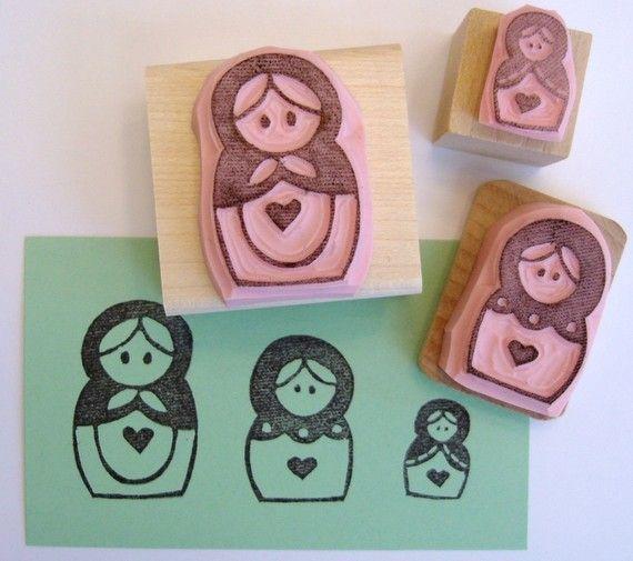 Ruso matryoshka muñecas Set de la mano de anidación por cupcaketree