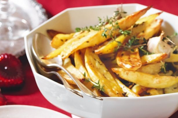 With plenty of thyme and garlic, these fragrant roast potatoes are the perfect support act to any Christmas main.