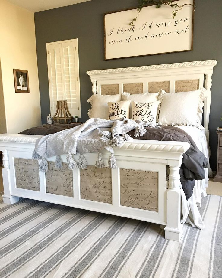 3345 best farmhouse style images on pinterest farmhouse for Farmhouse bedroom decor