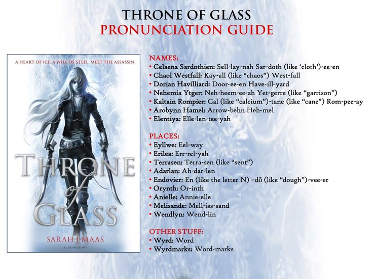 Throne of Glass by Sarah J. Maas – Pronunciation Guide