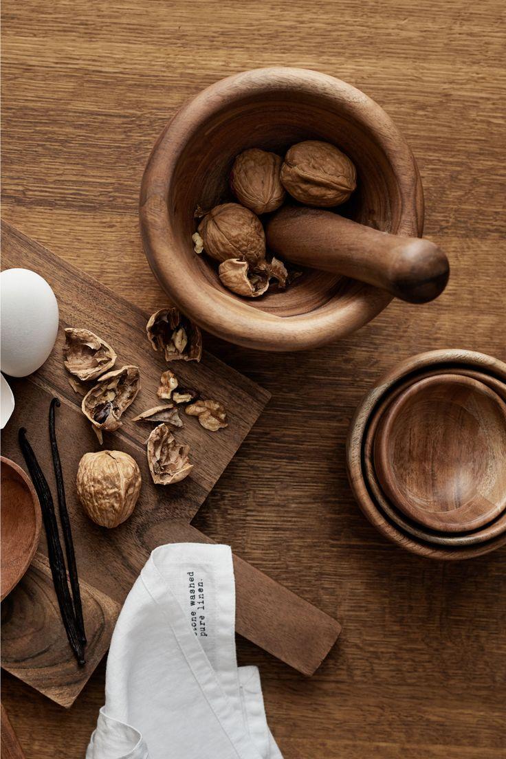 Balení: 3 dřevěné misky - Přírodní - HOME | H&M CZ