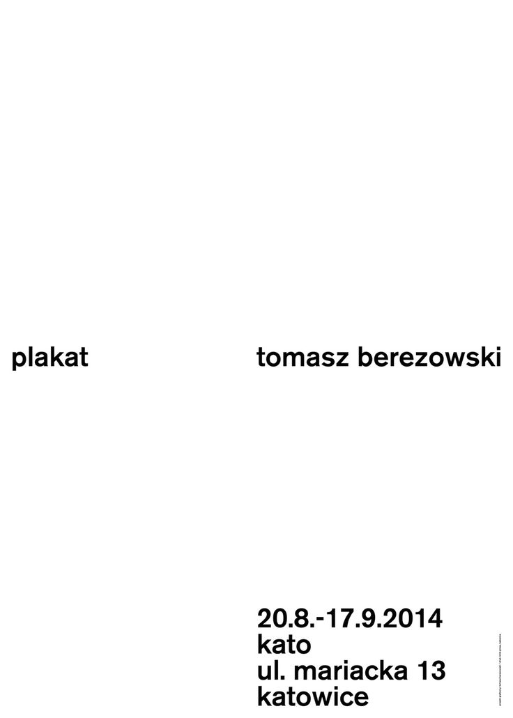 tomasz berezowski - typo/graphic posters