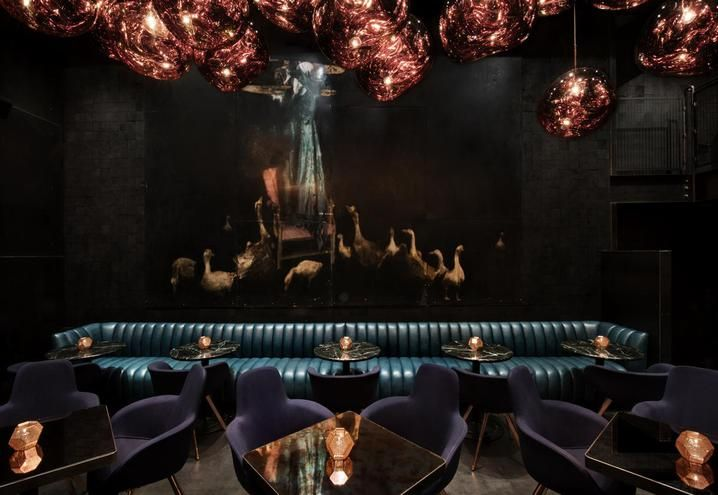 Himitsu Lounge Bar, Atlanta   by Tom Dixon & his team from Design Research Studio