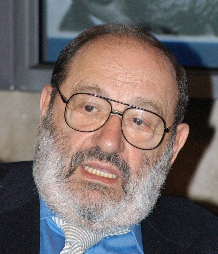 "Umberto Eco / ""I have lived the lives of Napoleon, Caesar, d'Artagnan. So I always encourage young people to read books, because it's an ideal way to develop a great memory and a ravenous multiple personality. And then at the end of your life you have lived countless lives, which is a fabulous privilege."""