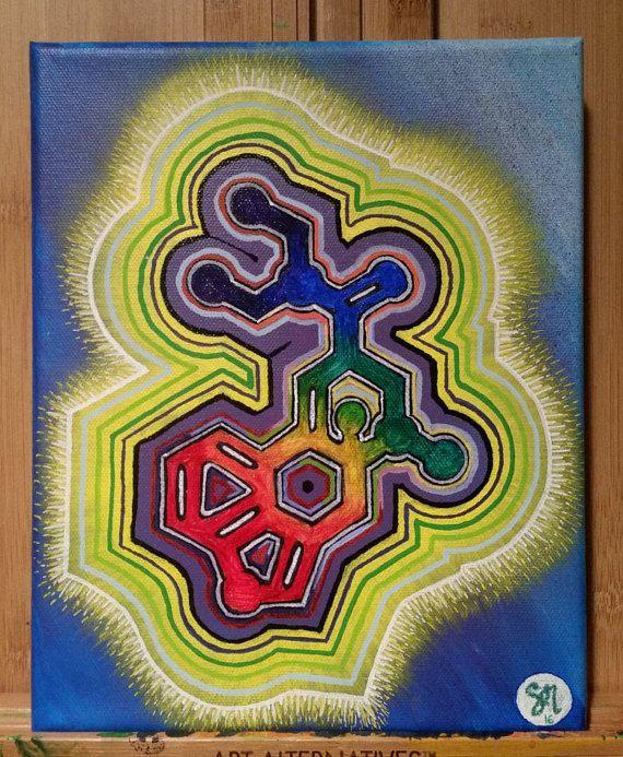 LSD Molecule Painting by MoonwardDreams on Etsy